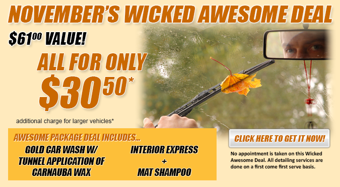 November's Wicked Awesome Deal!